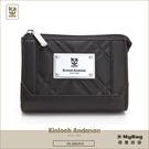 Kinloch Anderson 金安德森  皮夾 英國女爵 黑色 菱格壓紋女夾 經典方款零錢包 KA156107 MyBag得意時袋