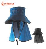 丹大戶外【Wildand】荒野 中性抗UV多功能遮陽帽 W1028 藍/深灰