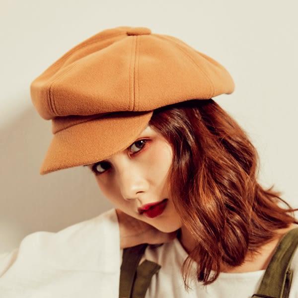 純色羊毛呢八角報童帽【AD091202N1】THEGIRLWHO那女孩預購