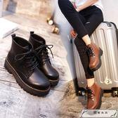 厚底馬丁靴女英倫風2018秋季新款高幫鞋靴子韓版百搭學生復古短靴