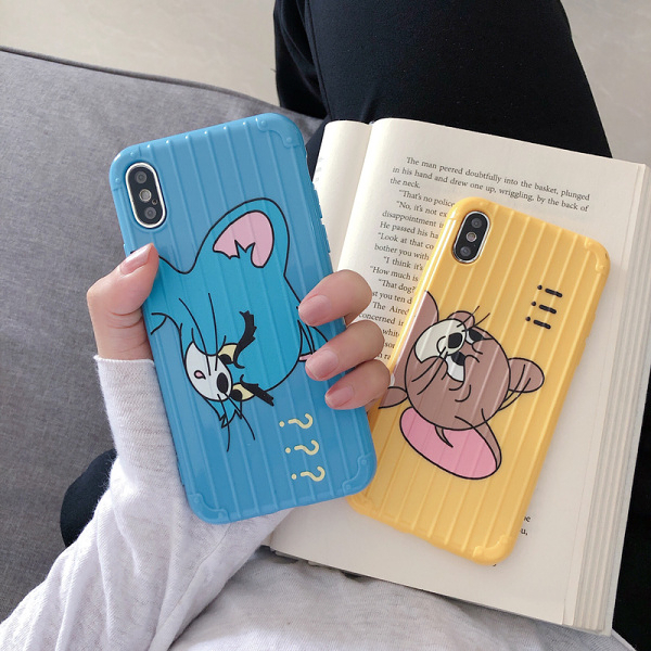 【SZ51】華為 nova4e 手機殼 貓和老鼠行李箱 P20 P30 保護殼 P30 pro mate 20 pro 手機殼 mate 20x 手機殼