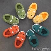 寶寶棉拖鞋嬰兒包跟冬幼兒2-3歲毛毛鞋1男童家居兒童秋冬幼童輕便 深藏blue