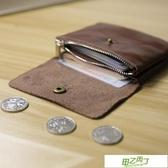 男士錢包 日韓男迷你硬幣包學生錢包男士皮質雙層搭扣卡包女短款零錢包女【快速出貨】