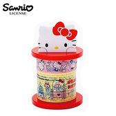 【日本正版】凱蒂貓 Hello Kitty 三麗鷗人物 膠帶 收納座 紙膠帶組 桌上小物 Sanrio - 495469