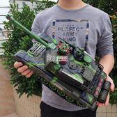 遙控坦克 兒童大炮玩具 履帶式可發射男孩超大號對戰充電越野汽車 卡菲婭