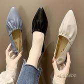 女鞋春季2020新款潮網紅尖頭仙女單鞋溫柔鞋春款一腳蹬平底鞋子女