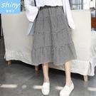 【V1661】shiny藍格子-極簡時尚...