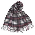 BURBERRY經典格紋喀什米爾羊毛圍巾(藍色)089506