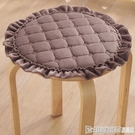 夏季加厚防滑毛絨圓形椅子墊圓凳墊套罩圓形圓凳子坐墊小板凳圓墊 印象家品