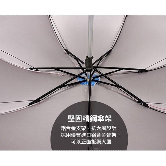 對抗四季 抗UV摺疊傘 八骨傘 彩色晴雨傘 三折傘 金屬桿 銀膠 抗紫外線 遮陽下雨 雨傘【4G手機】