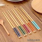 天然環保印花木質木筷子無漆 易樂購生活館