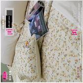 三件式【薄床包】5*6.2尺 /御芙專櫃『戀家玫瑰』米☆*╮精梳棉/雙人