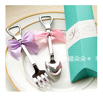 幸福朵朵【Sweet Love好運鏟子叉子湯匙組(蒂芬妮盒裝)】婚禮小物/送客迎賓姊妹禮/二次進場