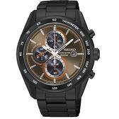 【時間光廊】SEIKO 精工錶 Criteria 黑菊 光動能 三眼錶 藍寶石水晶鏡面 全新原廠公司貨 SSC415P1