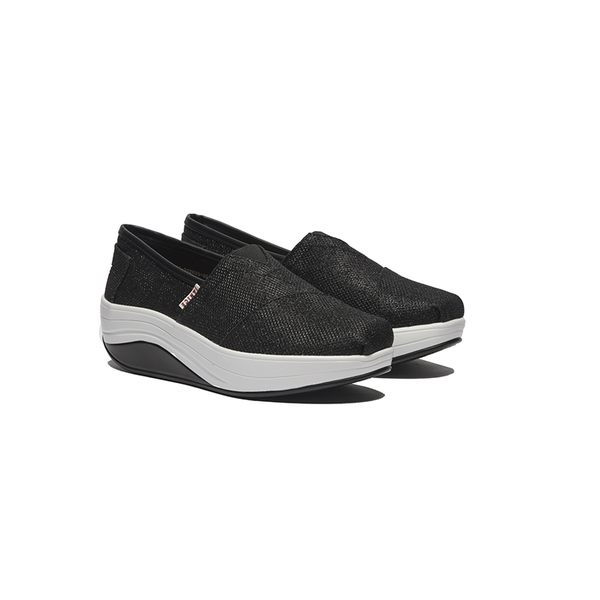 JANICE-水晶布面休閒鞋352023-02黑