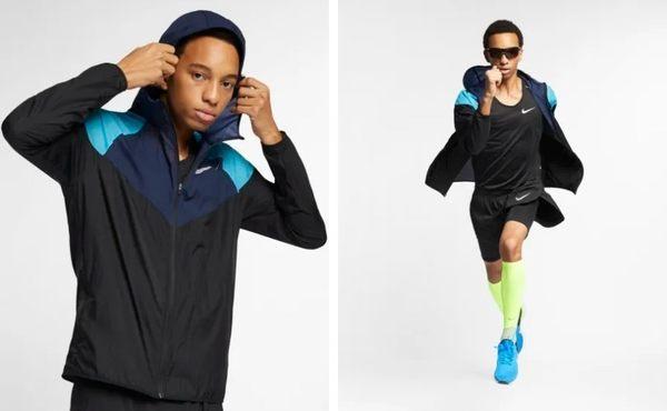 【折後$2099】▶NIKE WINDRUNNER 男子跑步夾克 風衣 運動外套 黑藍  AR0258-010