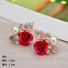 Star 日韓系列 -  玫瑰帶葉珍珠