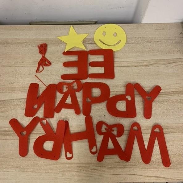 教室裝飾品佈置牆貼毛氈裝飾不織布字母笑臉星星(777-8941)