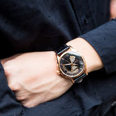 HAMILTON 漢米爾頓 JAZZMASTER 經典鏤空皮革機械腕錶/黑金 H32575735 熱賣中!