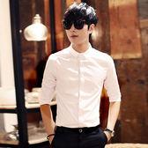 短袖商務白色寸衫發型師長袖襯衣中袖