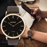 Arioso 簡約時尚設計真皮腕錶 - 男錶 AR1708RG
