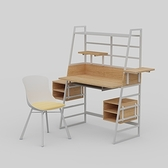 組 - 特力屋萊特書桌/塑鋼椅/淺木色
