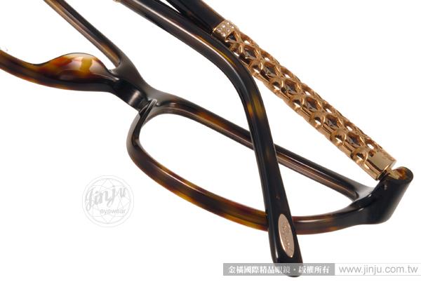 CHOPARD 光學眼鏡 CP181S 0722 (琥珀-金) 頂級精品奢華簡約款 # 金橘眼鏡
