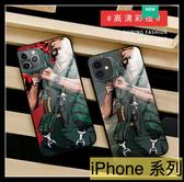 【萌萌噠】iPhone 11 Pro Xs Msx XR 6 7 8 SE2 創意個性 魔鬼司令 大砲 全包軟邊+鏡面玻璃背板手機殼
