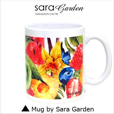 客製 手作 彩繪 馬克杯 Mug 手繪 插畫 水彩 滿版 水果派 拼盤 咖啡杯 陶瓷杯 杯子 杯具 牛奶杯 茶杯
