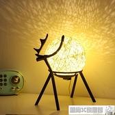 小夜燈 臺燈床頭燈臥室小夜燈少女月球星空創意小鹿夢幻溫馨睡眠小燈 風尚