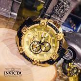 【INVICTA】新一代極致繩索腕錶 52mm - 黑色金錶框