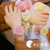 手錶-日系原宿風糖果色童趣卡通撞色少女硅膠觸屏愛心可愛軟妹電子手表-奇幻樂園
