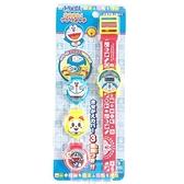 小禮堂 哆啦A夢 可換蓋矽膠錶帶兒童手錶 換蓋手錶 電子錶 腕錶 (藍 格紋) 4971413-01684