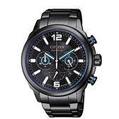 CITIZEN星辰Eco-Drive 光動能計時腕錶 CA4385-80E 黑