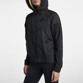 Nike Full-Zip Hoodie [883496-010] 女款 運動 健身 輕薄 風衣 拉鍊 連帽 外套 黑