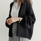 春秋韓版寬鬆洋氣百搭短款針織衫女外搭很仙的毛衣外套復古風開衫 koko時裝店