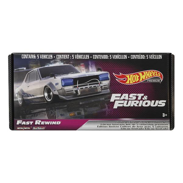 Hot Wheels風火輪玩命關頭Fast & Furious合金車精裝5入組 玩具反斗城