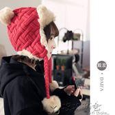 毛帽/針織帽女冬保暖加厚防風