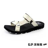 【南紡購物中心】G.P (女)【Charm】織帶拖鞋 女鞋 -杏