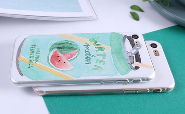 🍏 iPhoneXs/XR 蘋果手機殼 可掛繩 西瓜芒果梅製品 浮雕軟殼 i8/i7/i6sPlus/i5
