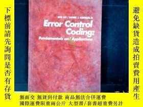 二手書博民逛書店Error罕見Control Coding (完整書名見圖)Y3