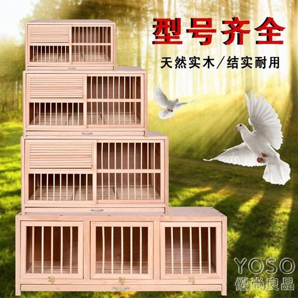 鳥籠 鴿具信鴿巢箱配對籠賽鴿巢鴿子配對籠巢箱實木鴿子籠鳥籠打籠 快速出貨YJT