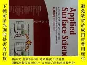 二手書博民逛書店Applied罕見Surface Science (journal) 1 02 2017 應用表面科學學術Y1