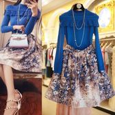 大尺碼套裝 微胖大尺碼女裝冬裝新款洋氣心機套裝減齡胖mm最愛秋冬季毛衣配裙子