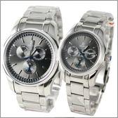 【萬年鐘錶】SIGMA日系 三眼時尚對錶 1018M-1018B-01