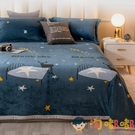 珊瑚絨毛毯被子加厚法蘭絨毯子寢室單人床單午睡毯【淘嘟嘟】