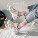 老爹鞋 顯腳小老爹鞋女夏季透氣鞋子新款爆款運動鞋潮百搭小白鞋-Ballet朵朵