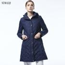 【ST.MALO】經典高質感雙菱格長大衣...