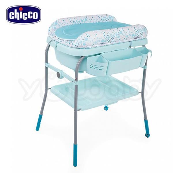 Chicco Cuddle & Bubble洗澡尿布台/浴盆/尿布桌/尿布檯 -泡泡粉綠