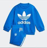 【折後$1899】◆adidas 男女裝 童裝 三葉草 三線褲 運動服 套裝 藍白 CE1159